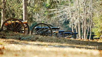 Caravaggio - Fort Anderson Civil War Cannons by Jocelyn Stephenson
