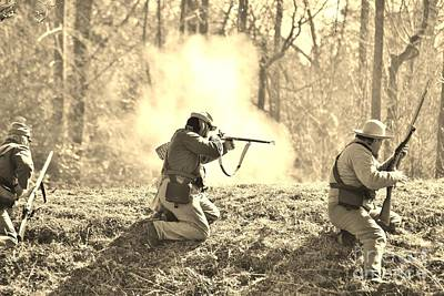 Photograph - Fort Anderson Civil War Re Enactment In Sepia 2 by Jocelyn Stephenson