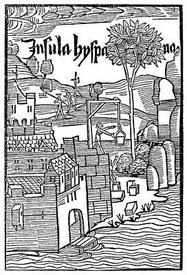 Navidad Painting - Fort At Navidad, 1493 by Granger