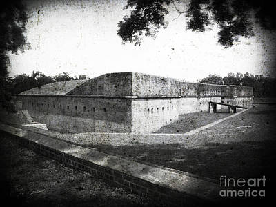 Fort Barrancas Faux Civil War Era Photograph Art Print