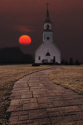Sun Photograph - Fort Belmont Sunset by Aaron J Groen