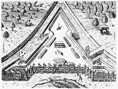 Fort Caroline, 1564 Art Print by Granger