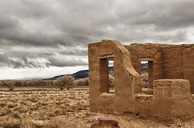Art Print featuring the photograph Fort Churchill Nevada by Janis Knight