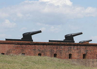 Fort Clinch Cannons Art Print by Cathy Lindsey
