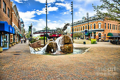 Fort Collins Fountain Art Print by Keith Ducker