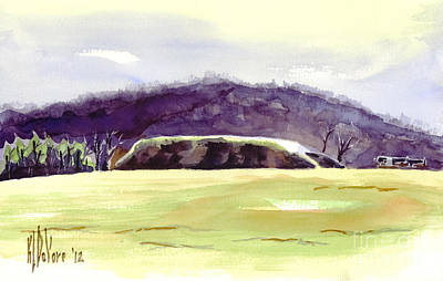 Federal Hill Painting - Fort Davidson Battlefield Mid Day by Kip DeVore