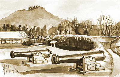 Fort Davidson Cannon Iv Art Print by Kip DeVore