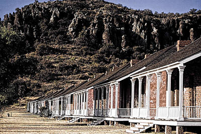 Photograph - Fort Davis National Historical Site Restored Officer Quarters by Roger Passman