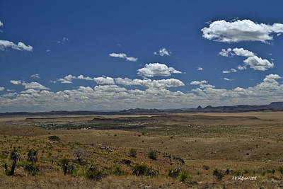Photograph - Fort Davis Texas Landscape by Allen Sheffield