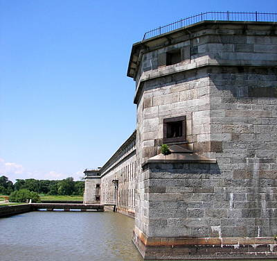 Photograph - Fort Delaware Prison West Corner by Pamela Hyde Wilson