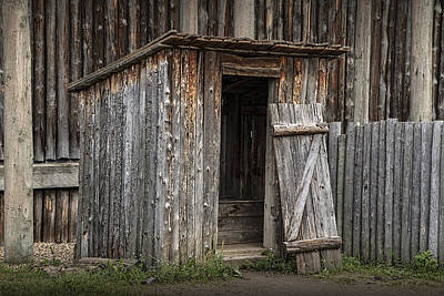 Fort Edmonton Park Wooden Outhouse Art Print