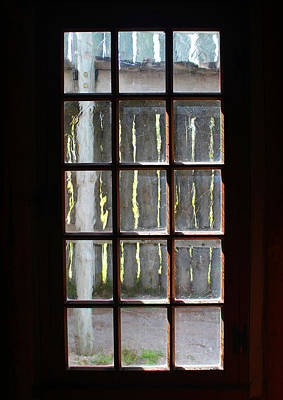 Photograph - Fort Fence Though Old Window by Mary Bedy