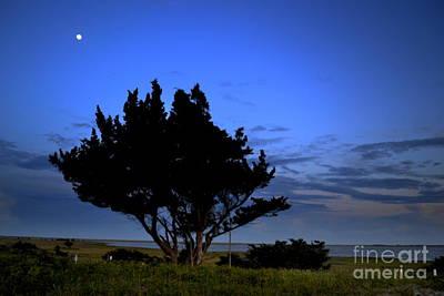Fort Fisher Moonrise  Art Print