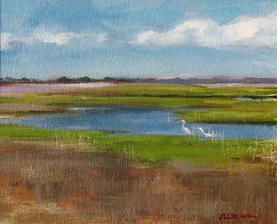 Painting - Fort Fisher Scenic Days by Erin Rickelton