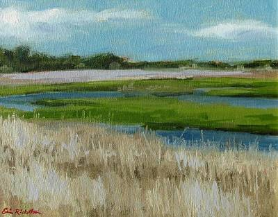 Painting - Fort Fisher Water Ways by Erin Rickelton