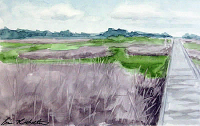 Painting - Fort Fisher's Path by Erin Rickelton