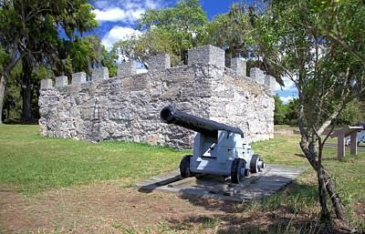 Photograph - Fort Frederica Canon by Gordon Elwell