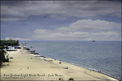 Life Gaurd Photograph - Fort Gratiot Light House Beach by LeeAnn McLaneGoetz McLaneGoetzStudioLLCcom