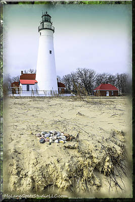 Life Gaurd Photograph - Fort Gratiot Light House by LeeAnn McLaneGoetz McLaneGoetzStudioLLCcom