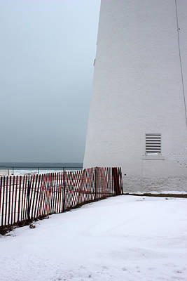 Photograph - Fort Gratiot Light With Fence 2 by Mary Bedy