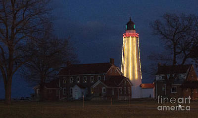Photograph - Fort Gratiot Lighthouse And Buildings by Ronald Grogan