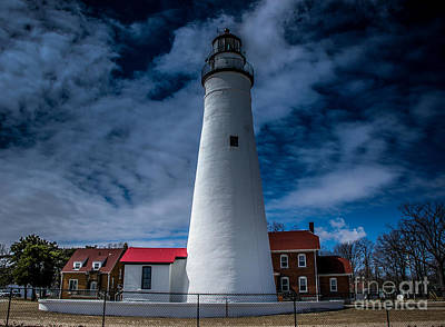 Photograph - Fort Gratiot Lighthouse From The Water Side by Ronald Grogan