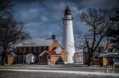Photograph - Fort Gratiot Lighthouse In Winter by Ronald Grogan