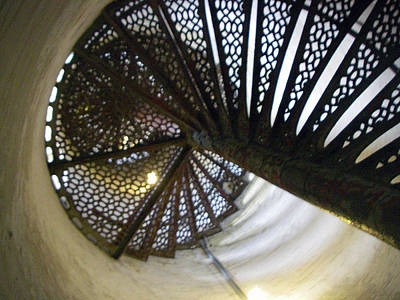 Photograph - Fort Gratiot Lighthouse Staircase by Cynthia Hilliard