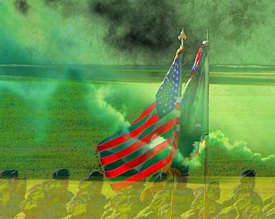 Fort Jackson Ceremony Art Print by Cathy Lindsey