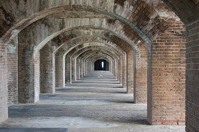 Photograph - Fort Jefferson Arches by Christopher James