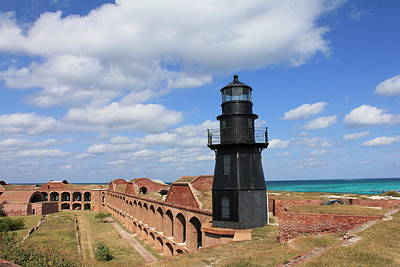 Photograph - Fort Jefferson Lighthouse by Mary Haber
