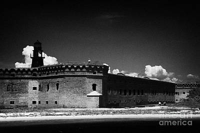 Fort Jefferson Walls With Garden Key Lighthouse Bastion And Moat Dry Tortugas National Park Florida  Art Print