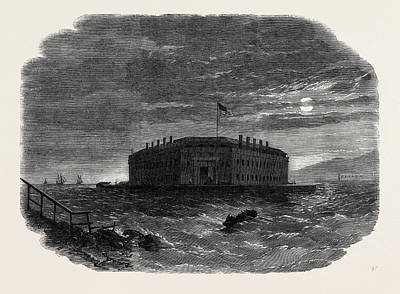 Fort Lafayette The Federal Bastille For Political Prisoners Print by English School