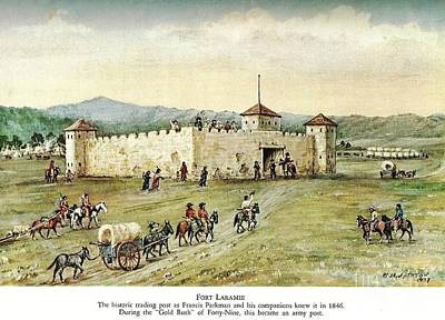 Painting - Fort Laramie - 1846 by Reproduction