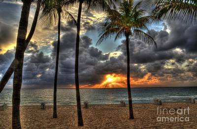 Fort Lauderdale Beach Florida - Sunrise Art Print by Timothy Lowry