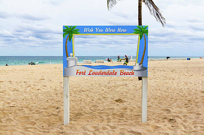 Fort Lauderdale Beach Sign - Wish Art Print