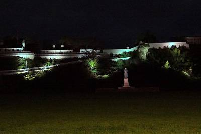 Photograph - Fort Mackinac At Night by Keith Stokes
