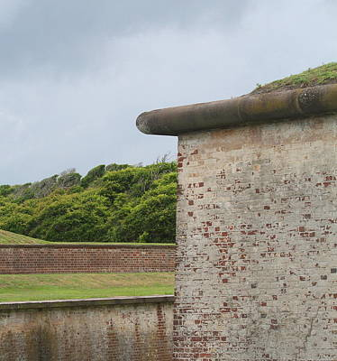 Fort Macon 2  Art Print by Cathy Lindsey
