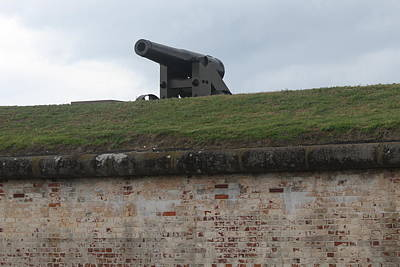 Army Photograph - Fort Macon Cannon 6 by Cathy Lindsey