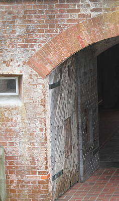 Fort Macon Entrance 2 Art Print by Cathy Lindsey