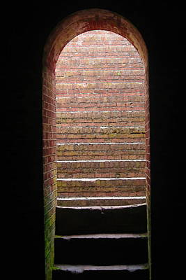 Fort Macon Tunnel Art Print by Cathy Lindsey