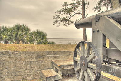 Fort Mcallister Cannon Art Print