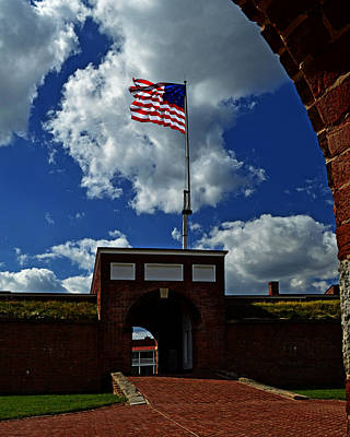 Photograph - Fort Mchenry Main Gate by Bill Swartwout Photography