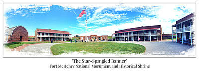 Anthem Wall Art - Photograph - Fort Mchenry Panorama by Stephen Stookey