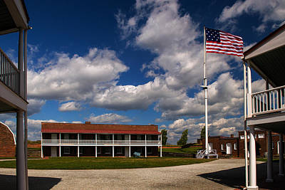 Photograph - Fort Mchenry Parade Ground Barracks by Bill Swartwout Fine Art Photography