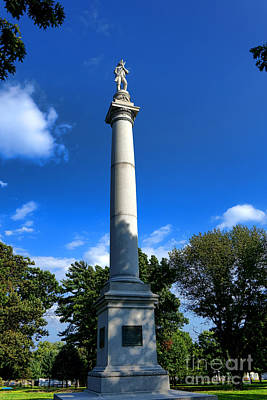 Historic Battle Site Photograph - Fort Mercer Monument by Olivier Le Queinec