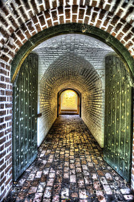 Photograph - Fort Moultrie Door by Dale Powell