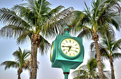 Fort Myers Beach Florida Times Square 3 Art Print by Timothy Lowry