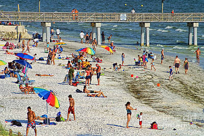 Photograph - Fort Myers Beach Life by Olga Hamilton