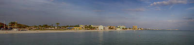 Fort Myers Beach Panorama Art Print by Anne Rodkin
